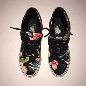 Vans Off The Wall Floral Print Shoes